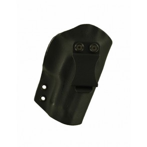 """Direct Hit for a Sig 229 3.9"""", r/h, Hybrid, Black Kydex, Black Leather Lining, Canted, Clip"""