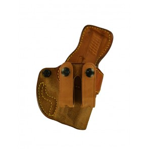 """Down Under for a S&W M&P Shield 3.1"""", r/h, Cowhide, Natural, Straps"""
