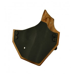 Integrator for a CZ P01, r/h, Kydex Black Front, Natural Leather Lined, Natural Cowhide Back, Canted
