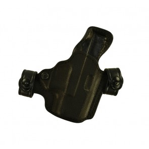 Snapper for a Glock 26,27,33, r/h, Cowhide - rough side out, Black, Unlined
