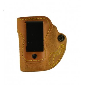 Hideaway for a Springfield Glock 42, l/h, Cowhide, Natural, Clip