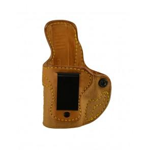 Public Secret for a Glock 43, l/h, Cowhide, Natural, Clip