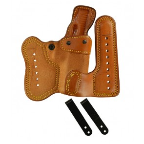 Double Jeopardy for a Glock 17,22,31, r/h, Cowhide, Natural, Clip