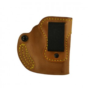 Hideaway for a Glock 43 w/ Crimson Trace, r/h, Horsehide, Natural, Clip