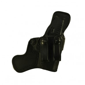 "Tail Gunner for a Springfield XDS 3.3"", r/h, Cowhide, Black, Straps"