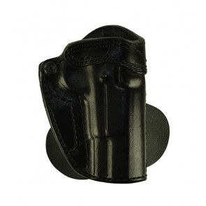 Speedy Spanky for a Browning Hi Power, r/h, Cowhide, Black, Lined