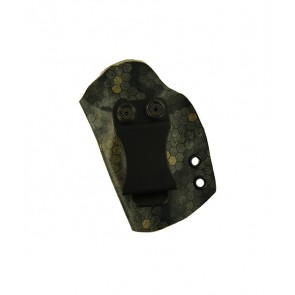 Direct Hit for a Kimber Micro 9, l/h, Hybrid, Spectra Kydex, Black Leather Lining, Clip, Canted