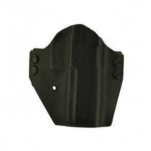 """Fusion for a Sig 320 Full Size 4.7"""", r/h, Hybrid, Black, Straight Drop, Black Leather Lined"""