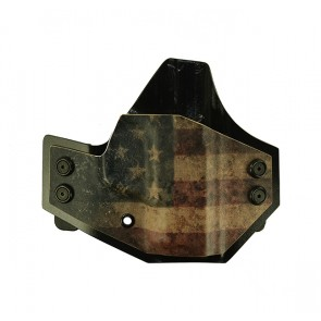 """Patriot for a S&W M&P Shield 9,40 3.1"""", r/h, Kydex, American Flag Front, Black Back, Straight Drop"""