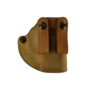 """Hideaway for a Springfield XDE 3.3"""", r/h, Horsehide, Natural, Straps"""