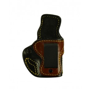 "Tim Schmidt Signature Holster for a Kimber Micro 9, 3.15"", r/h, Black/Tan, Clip"