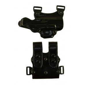 Under Taker for a Glock 17,22,31, r/h, Cowhide, Black, Unlined