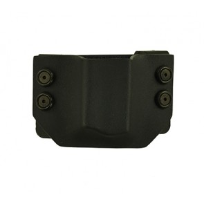 OWB Extreme Magazine Carrier for a Browning HI Power, l/h draw, Kydex, Black, Straight Drop