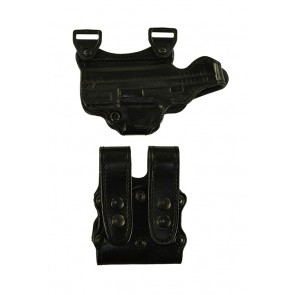 "Under Taker for a Springfield XD 4"", r/h, Cowhide, Black, Lined"
