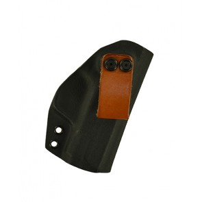 "Reaction Lite for a S&W M&P Shield 3.1"", r/h, Kydex, Black, Leather Strap, Canted"