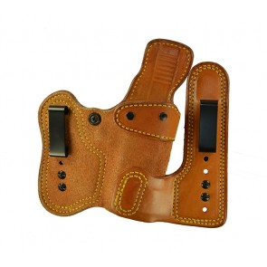 Double Jeopardy for a Glock 26,27,33, r/h, Cowhide, Natural, Clip - Smooth Side Out