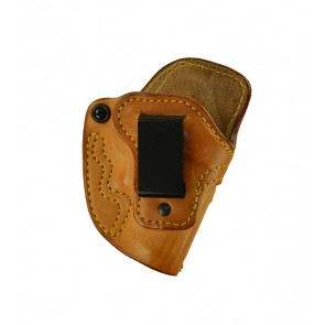 Down Under for a S&W J Frame (36,60,442,640,etc.), r/h, Cowhide, Natural, Clip - Smooth Side Out