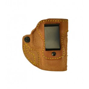 """Hideaway for a Springfield XDS 9,40,45 3.3"""", r/h, Cowhide, Natural, Clip"""