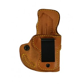 Public Secret for a Ruger LCP 380 w/ Crimson Trace, r/h, Cowhide, Natural, Clip