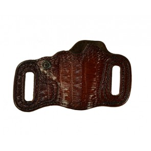 Topless for a Kimber Solo, r/h, Cowhide, Antique, Lined - Croc Embossed